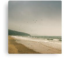 Winter Pentewan Beach  Canvas Print