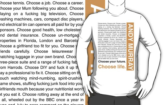 Andy Murray Trainspotting 'Choose Life' design by rodgers37