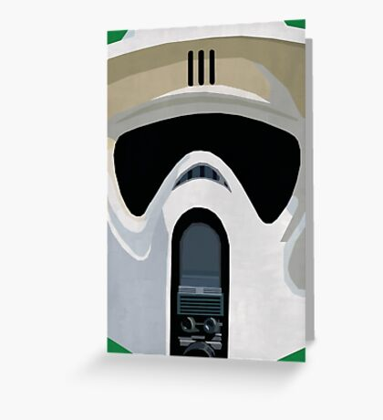 Scout Trooper Star Wars Print  Greeting Card