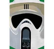 Scout Trooper Star Wars Print  Photographic Print