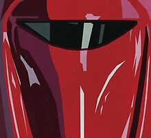 Red Imperial Guard Star Wars Print  by pickledjo