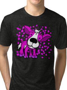 Kid Goat Pink Design Tri-blend T-Shirt