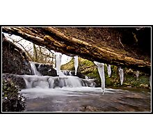 Icicle waterfall at Downham Photographic Print