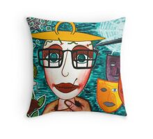 I'm grateful to the world Throw Pillow