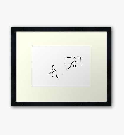 hockey field hockey rolling hockey player Framed Print