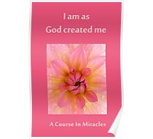 as god created me Poster