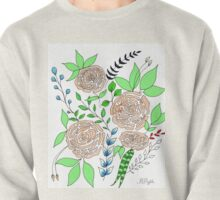 Coral + Mint // Floral Pattern Pullover