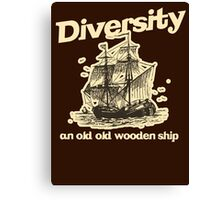 Diversity, an Old Old Wooden Ship Canvas Print