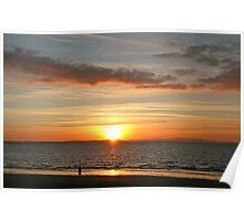 Watching the sun set over Crosby Poster