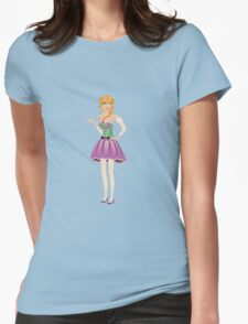 Blonde girl in spring dress Womens Fitted T-Shirt