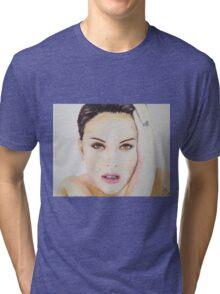 Natalie Portman, Pastels Portrait, by James Patrick Tri-blend T-Shirt