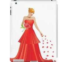 Blonde girl in Red dress iPad Case/Skin