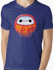 DARUMAX Mens V-Neck T-Shirt