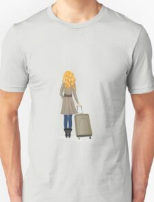 Woman with Suitcase T-Shirt