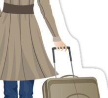 Woman with Suitcase Sticker