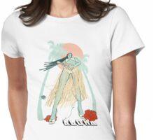 Aloha - white Womens Fitted T-Shirt