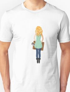 Woman with Suitcase 2 T-Shirt
