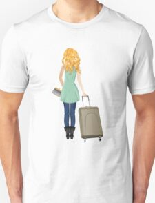 Woman with Suitcase 3 T-Shirt