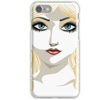 Blond girl with blue eyes iPhone Case/Skin
