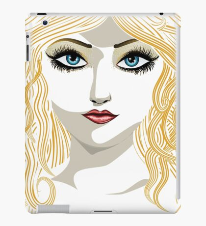 Blond girl with blue eyes iPad Case/Skin