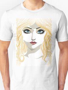 Blond girl with blue eyes Unisex T-Shirt