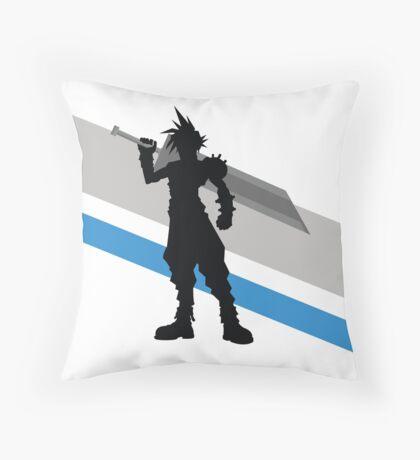 Cloud Strife Silhouette Throw Pillow