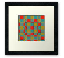 Retro squares Framed Print