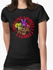 I survived 5 nights Womens Fitted T-Shirt