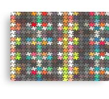 Colorful stars pattern Canvas Print
