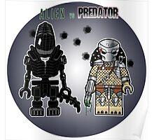 Alien vs Predator - Character, Brick Minifigure Poster