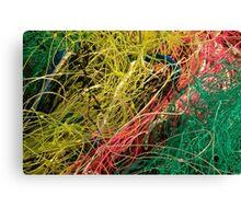 Le Conquet - Filets de pêche Canvas Print