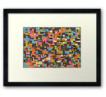 Colorful pixels Framed Print
