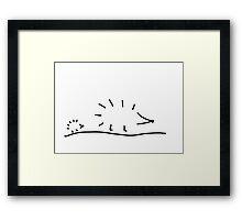hedgehogs spur Framed Print