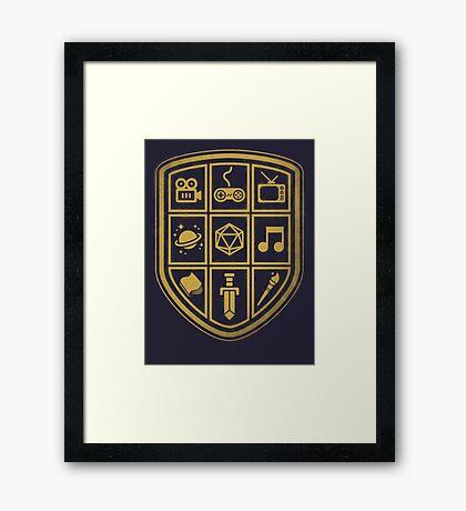 NERD SHIELD Framed Print