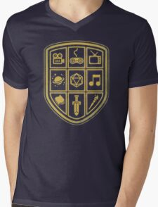 NERD SHIELD Mens V-Neck T-Shirt