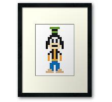 Goofy 8-Bit Framed Print