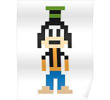 Goofy 8-Bit Poster