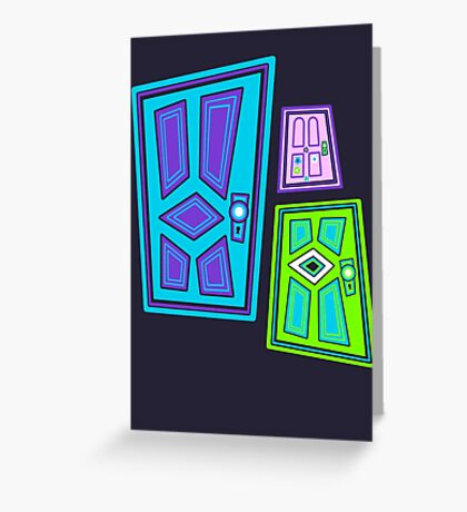 PICK A DOOR! Greeting Card