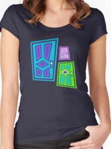 PICK A DOOR! Women's Fitted Scoop T-Shirt