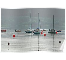 Boats On Carsington Water Poster