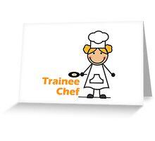 Trainee Chef Greeting Card