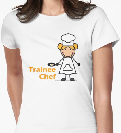 Trainee Chef Womens Fitted T-Shirt