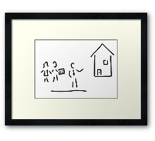 real estate broker house purchase Framed Print
