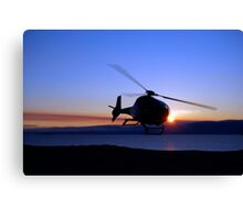 Helicopter over Lake Baikal Canvas Print