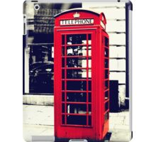 Red British Telephone Booth  iPad Case/Skin