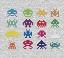 Space Invaders 8-Bit One Piece - Long Sleeve