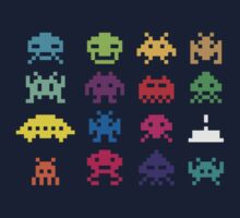 Space Invaders 8-Bit by Florian Rodarte
