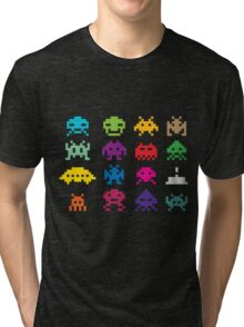 Space Invaders 8-Bit Tri-blend T-Shirt