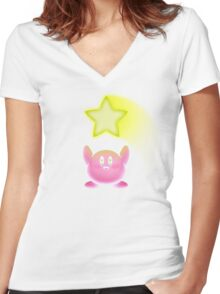 SUPER STAR! Women's Fitted V-Neck T-Shirt