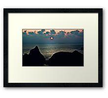Sunset Rocks Framed Print